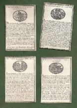 History of the New Testament circa 1770 Antique playing cards